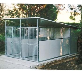 Box per cani mod. Modulare con laterali chiusi