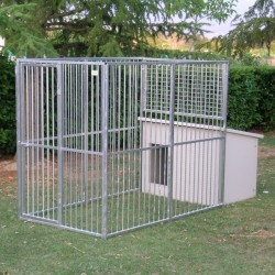 Dog Kennel mod. Eco + Dog House mod. Dobermann