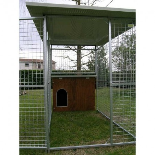 Hundezwinger Mod. Eco + Hundehütte Collie