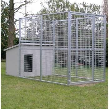 Hundezwinger Mod. Eco + Hundehütte Dobermann