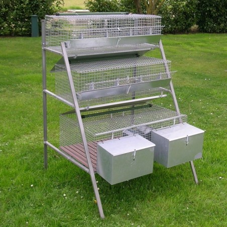 Rabbit Hutch for 2 Breed + 8 Fatten
