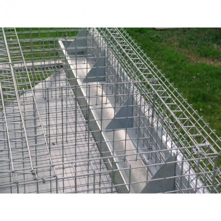 hay racks and feeders on Rabbit Hutch for 2 Breed + 8 Fatten