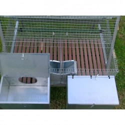 Nests Rabbit Hutch for 2 Breed + 8 Fatten