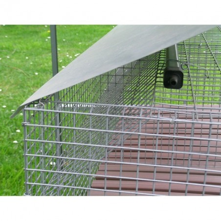 manure slides rabbits sheet Rabbit Hutch for 2 Breed + 8 Fatten