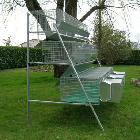 Rabbit Hutch for 3 Breed + 12 Fatten