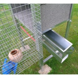 Sliding Feeder of Aviary for Pigeons 3 pair