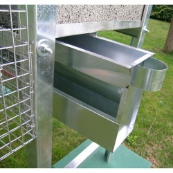 Sliding Feeders Aviary for Pigeons 6 pair