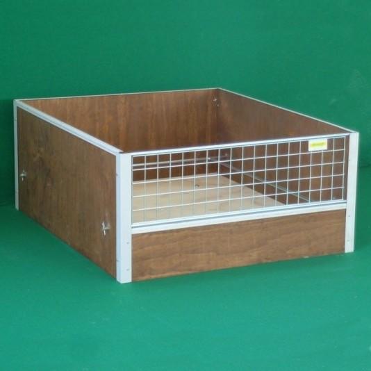 Wurfkiste aus Holz für Hunde