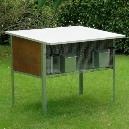 Rabbit Hutch for 2 Breed Outdoor
