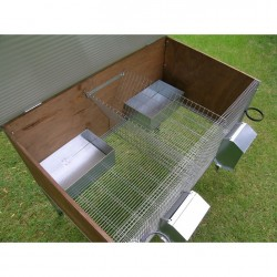 Rabbit Hutch for 2 Breed Outdoor internal nests