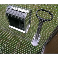 Drinker and Feeder Rabbit Hutch for 2 Breed Outdoor