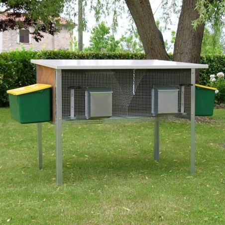 Rabbit Hutch for 2 Breed Outdoor with external nests