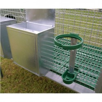 Kaninchenstall für zwei Zuchttiere