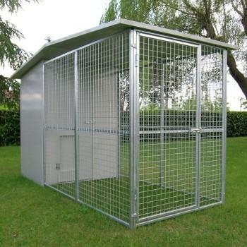 Box per cani mod. Modulare con tettoia