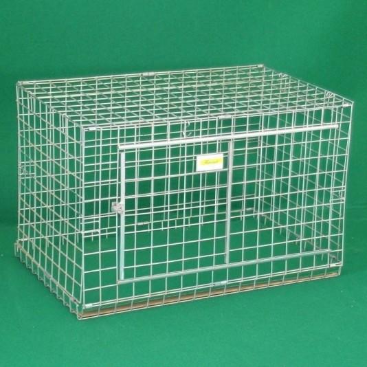 Transportbox aus Drahtgitter für Hunde