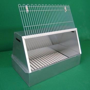 Transportbox für Hunde aus Blech