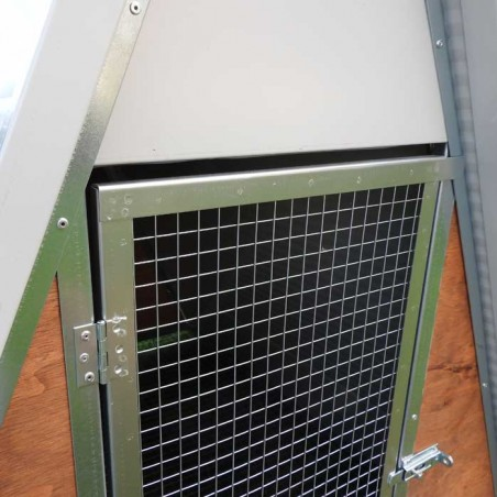 Insulated mini chicken coop door