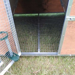 Insulated mini chicken coop inside