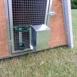 Insulated mini chicken coop feeder and drinker