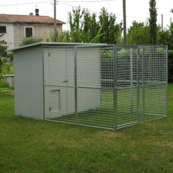Box per cani mod. Modulare 200x300 senza tettoia