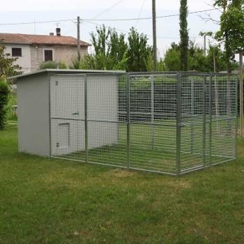 Box per cani mod. Modulare 200x400 senza tettoia