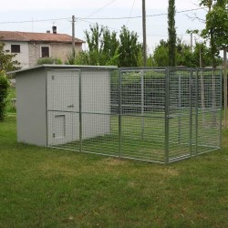 Dog Kennel mod. Modular 200x400 without roof
